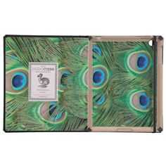 Peacock plumage cases for iPad