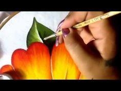 Pintura en tela niña margarita # 5 con cony - YouTube