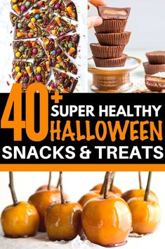 No SCARY ingredients in these Healthy Halloween Treats! They're guaranteed to please even the grumpiest ghouls! No artificial colors or flavors no HFCS and they're all gluten-free too! Healthy Halloween Treats, Easy Halloween Food, Halloween Ideas, Homemade Twix Bars, Gluten Free Meal Plan, Real Food Recipes, Fall Recipes, Delicious Recipes, Baking Recipes