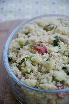 Cous cous zucchine, tonno e pomodorini