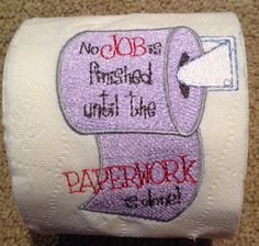 toilet paper embroidery