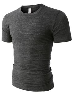 PREMIUM Mens Casual Short Sleeve Crewneck Poly-Cotton T Shirt