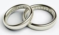 Engraved Personalised Wedding Bands.