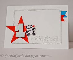 Cecilia's Cards - First Birthday Panda @mamaelephant @papersmooches MFT Dienamics dies