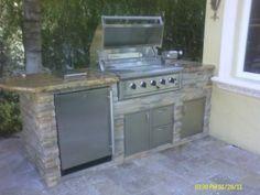 custom outdoor summer kitchen in boca raton, florida