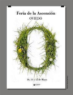 Cartel seleccionado para representar la feria de la ascensión 2013 en Oviedo por grafias.
