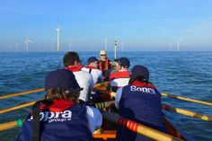 Our Trustee, Susan Gostick, and team rowed 52 miles from Belgium to Kent, raising over £8,400 for Cavell