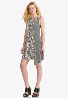 Cato Fashions Abstract Pointillism Asymmetrical Dress #CatoFashions