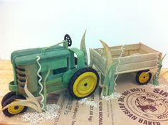Dead dough  used to make a John Deere Tractor