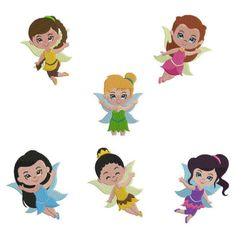 Tinker Bell Embroidery Designs | Tinker Bell 6 Fairies Bundle