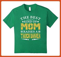 Kids THE BEST MOM RAISE TRUCK DRIVER JOB SHIRTS || MOTHER SHIRTS 4 Kelly Green - Careers professions shirts (*Partner-Link)