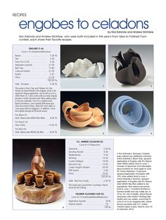 Recipes Archives - Ceramics Monthly
