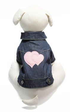 GOOBY Denim Jacket for Pets Small Hearts *** A lot more info can be found at the picture url. (This is an affiliate link). Dog Accesories, Accessories, Dog Costumes, Small Heart, Pet Clothes, Pet Supplies, Snug, Fashion Backpack, Denim
