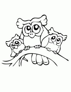 pictures of owls to print | Owls Coloring Page | Free Printable Coloring Pages