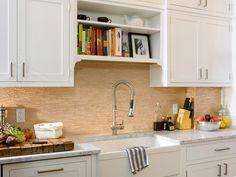 +++ White Shaker design. Kitchen Countertops: Beautiful, Functional Design Options   Kitchen Designs - Choose Kitchen Layouts & Remodeling Materials   HGTV