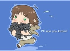 Awww Hetalia Chibi Greece Heracles and his kitties