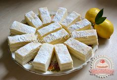 Régimódi citromszelet Feta, Camembert Cheese, Party Time, Deserts, Dairy, Lemon, Dessert Recipes, Food And Drink, Cooking Recipes