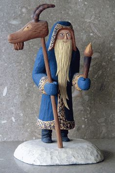 Goathead Santa by Huston Clark Sieburth OK, this is not needle felting but how exciting to find my brother's carving on pinterest.