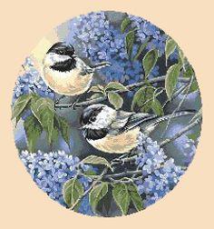 Spring Birds free cross stitch pattern