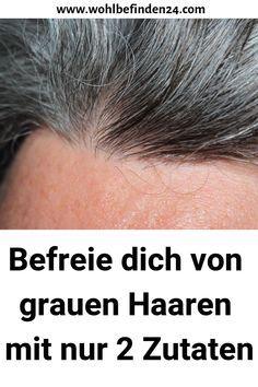 Befreie dich von grauen Haaren mit nur 2 Zutaten #gesundheit #Haarschnittlangehaare #Haarideen #grauenHaaren