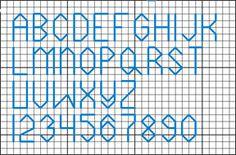 4 High Backstitch - free alphabet chart