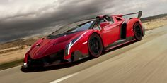 """Most Expensive Car For 2014, """"Lamborghini Veneno Roadster""""- $4.5 million  Lamborghini says it plans to build only nine copies of the Lamborghini Veneno Roadster in 2014. Among many other innovations its lightweight body design makes extensive use of carbon fiber-reinforced polymer. Top speed is 221 mph.  Country of Origin: Italy Engine: 750-hp, 6.5-liter, 12-cylinder 0-62 mph: 2.9 seconds"""