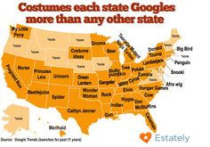 The results are scarier than the costumes! Snooki, Trump and potatoes — each state's most Googled Halloween costumes - MarketWatch