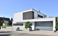 0905 Detached house, new building House Front Design, Modern House Design, Living Haus, Compact House, Art Deco Home, Facade House, House Facades, Modern Architecture House, Modern House Plans
