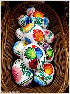 Polish pisanki (Easter eggs) - photo taken on Szewska Street in Kraków