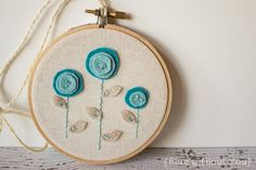Embroidery and Felt Hoop Art with by bluewithoutyoukids on Etsy