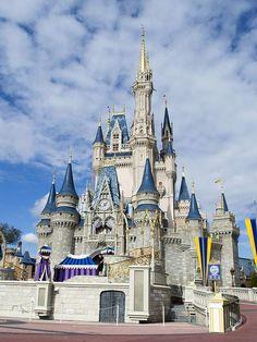 Cinderella Castle at Disney World, Orlando, Florida