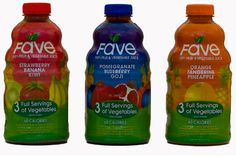 Only $3.99 but its the healthiest fruit and veggie combo. Gives three full servings of each. Half water, half juice.