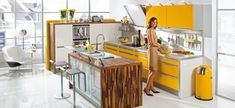 Kitchen:Three Yellow Kitchens You Must See And Apply In Your Home Yellow Kitchen Design