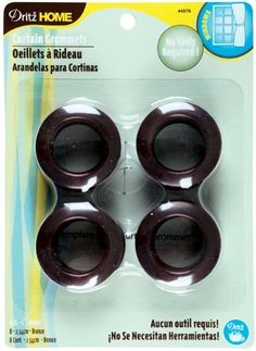 Dritz 44376 Curtain Grommets, Bronze, 1-Inch, 8-Pack by Dritz. Save 16 Off!. $8.03. Machine washable; do not iron, tumble dry or dry clean. Curtain grommets are designed for rods up to 13/16-inch diameter. For sheer to drapery-weight fabrics. Includes 8 grommets per pack. Available in bronze color; measures 1-inch inner diameter. These curtain grommets are designed for rods up to 13/16-Inch diameter. For sheer to drapery-weight fabrics. Machine washable. Do not iron, tumble dry or dr...