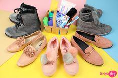 Jak wyczyścić buty z zamszu i nubuku? 9 domowych sposobów - Twoje DIY Slippers, Lace Up, Flats, Shoes, Fashion, Loafers & Slip Ons, Moda, Zapatos, Shoes Outlet