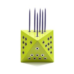 Hanuka 21 Menorah by EightDays Design Group: Lime @ the Jewish Museum Shop