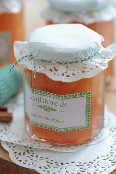 #Confiture de poires aux épices