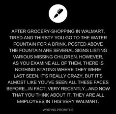 "Fun fact: when I was younger and misbehaving in Walmart, my mom told me they enslaved kids who were bad in their stores. I didn't believe her until a nearby employee in husband ""confirmed"" it. Daily Writing Prompts, Book Prompts, Book Writing Tips, Writing Challenge, Writing Words, Cool Writing, Writing Skills, Writing Ideas, Dialogue Prompts"