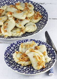 Polish Recipes, Polish Food, Dumplings, Enchiladas, Macaroni And Cheese, Shrimp, Pancakes, Pierogi, Food And Drink