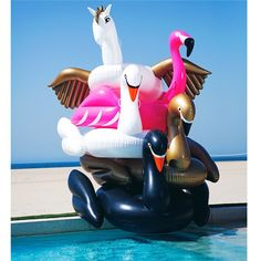FUNBOY - Luxury Inflatable Pool Floats Limited Edition Gold Swan Pool Float - Funboy