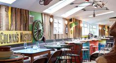 casa-bellissimo-blog-mesa-de-madeira-reciclada-mesa-feita-com-tambores-reciclados-decoração-bares-e-restaurantes-restaurante-e-bar-em-Londres-Notting-Hill-3
