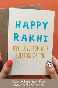 Funny rakhi and raksha bandhan cards to make your brohter laugh this year! We also have a limited number of rakhis which you can add to your order. #rakhicard #rakshabandhan Happy Diwali Cards, Diwali Greeting Cards, Diwali Greetings, Rakhi Greetings, Raksha Bandhan Cards, Raksha Bandhan Greetings, Rakhi Cards, Happy Rakhi, Happy Rakshabandhan