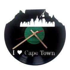 I (Heart) Cape Town Clock – Black from Wall Clock Wonders - (Save Fresh Outfits, African Safari, Buy Shoes, Cape Town, Best Brand, Decorative Accessories, My Heart, Fashion Online, Cool Designs