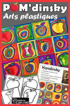 Kandi-Apples : In the Style of Kandinsky - Art. by Art with Creations Claudia Loubier September Art, Apple Art Projects, Fall Art Projects, Back To School Art, Art School, School Style, Op Art, Art Kandinsky, Art Lesson Plans