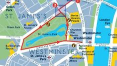 Walking Maps Follow these suggested walking routes to discover a fresh perspective of London. Plan your journey in advance and carry the walking map with you. Routes include Olympic highlights such as The O2 Arena, Greenwich Park and the Serpentine, plus Central London walks past St Paul's Cathedral and Buckingham Palace.