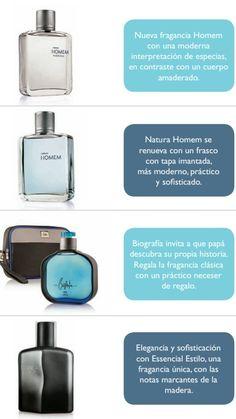 Natura Perfumería celebra a papá Homen, Biografía, essencial