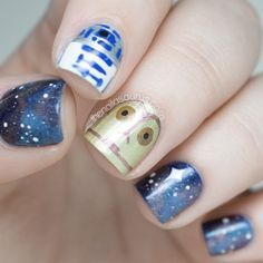 easy star wars nails - Google Search