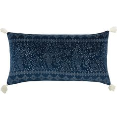 Be inspired by the exotic feel of our Sultan cushion. Featuring a delicate pattern print on Indigo cotton velvet, with beautiful tassel detai