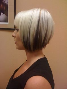 blonde bob with dark underneath
