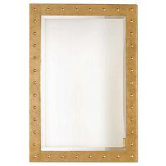 Worlds Away Wilson Studded Mirror - Gold   Rectangular   Mirrors   Candelabra, Inc.